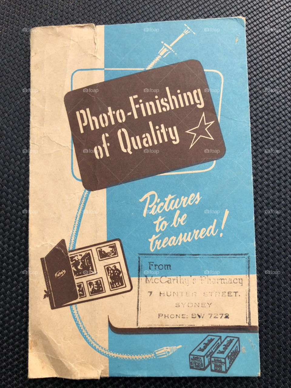Old photo wrapper