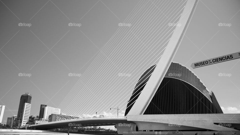 Bridge at the City of Arts and Science in Valencia, Spain