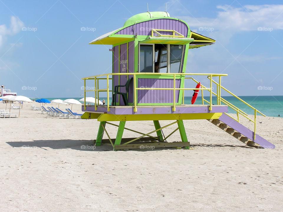 Life Guard Tower in Miami Beach