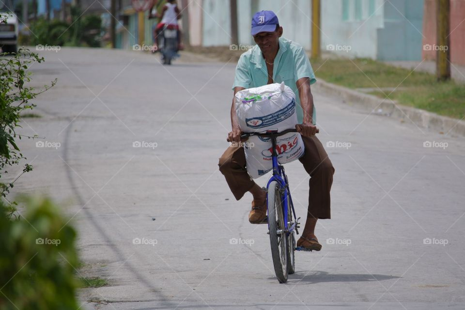 People In Cuba.Goods Transport