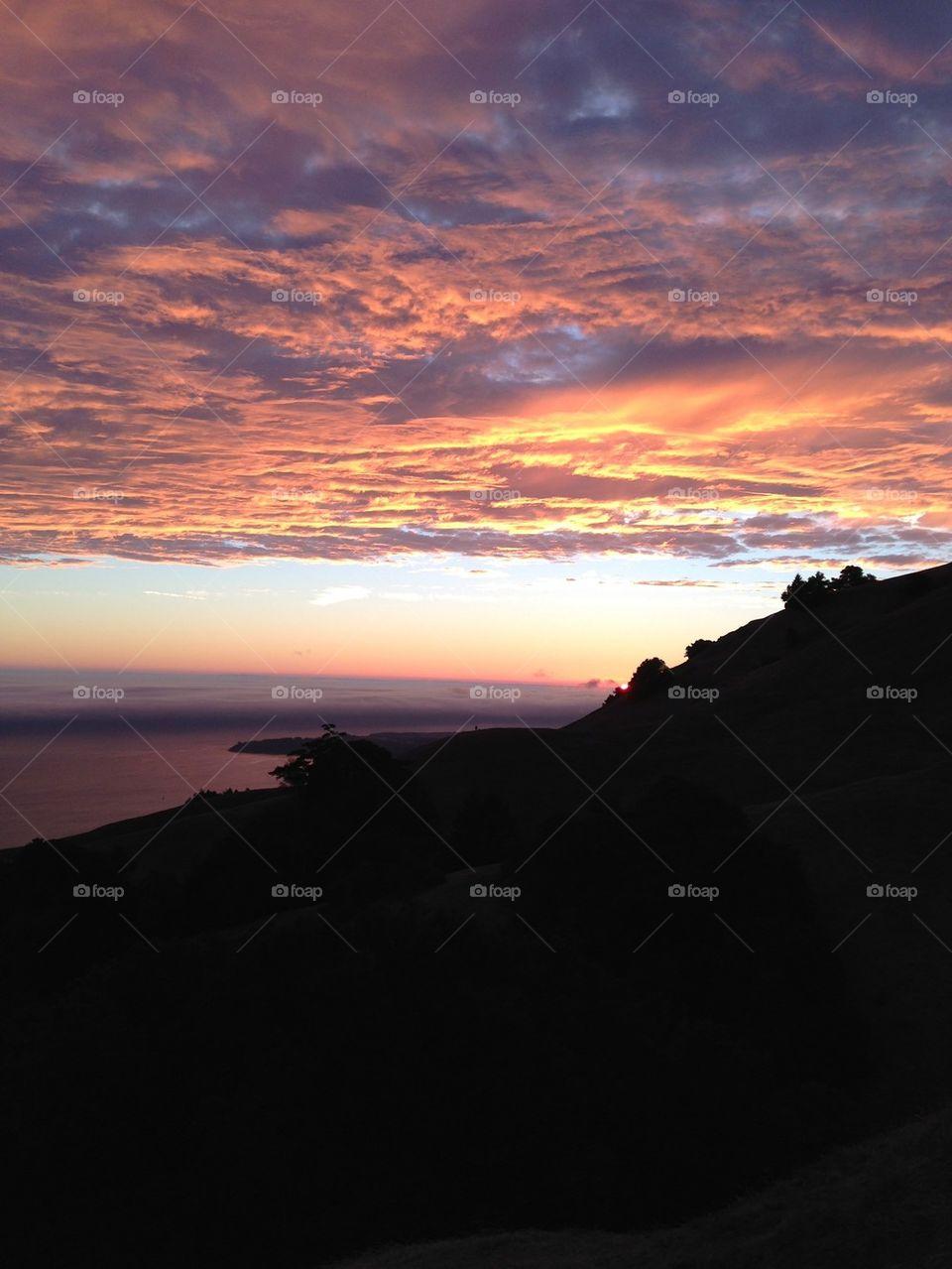 Sunset at Point Reyes
