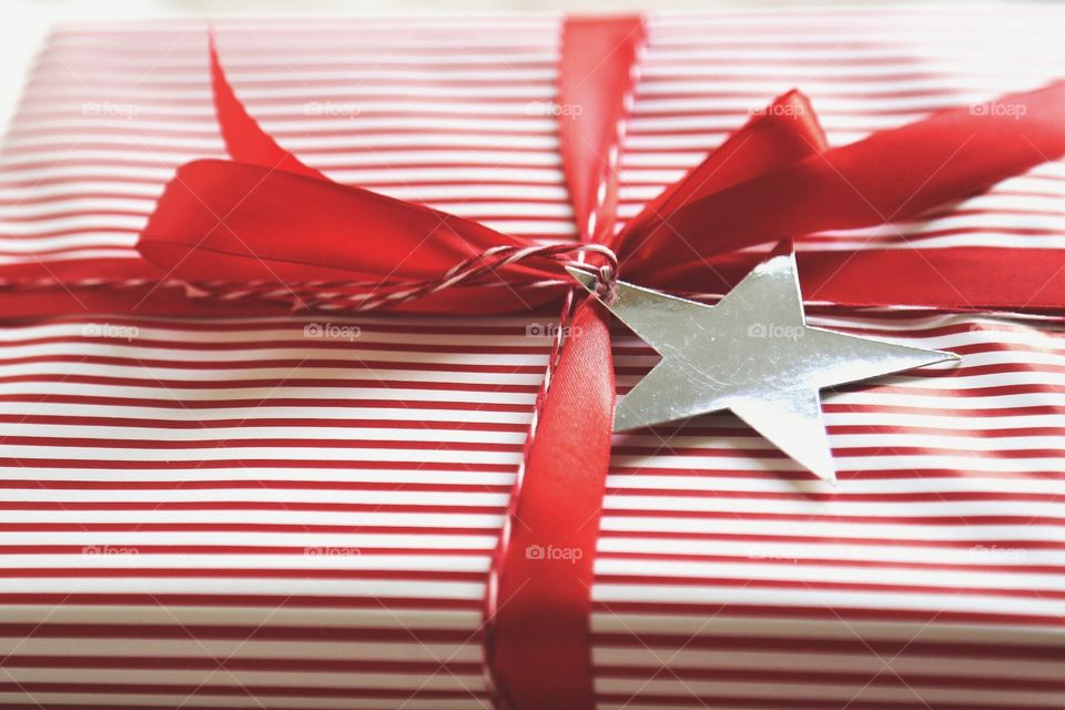 Stars and Stripes on Christmas presents
