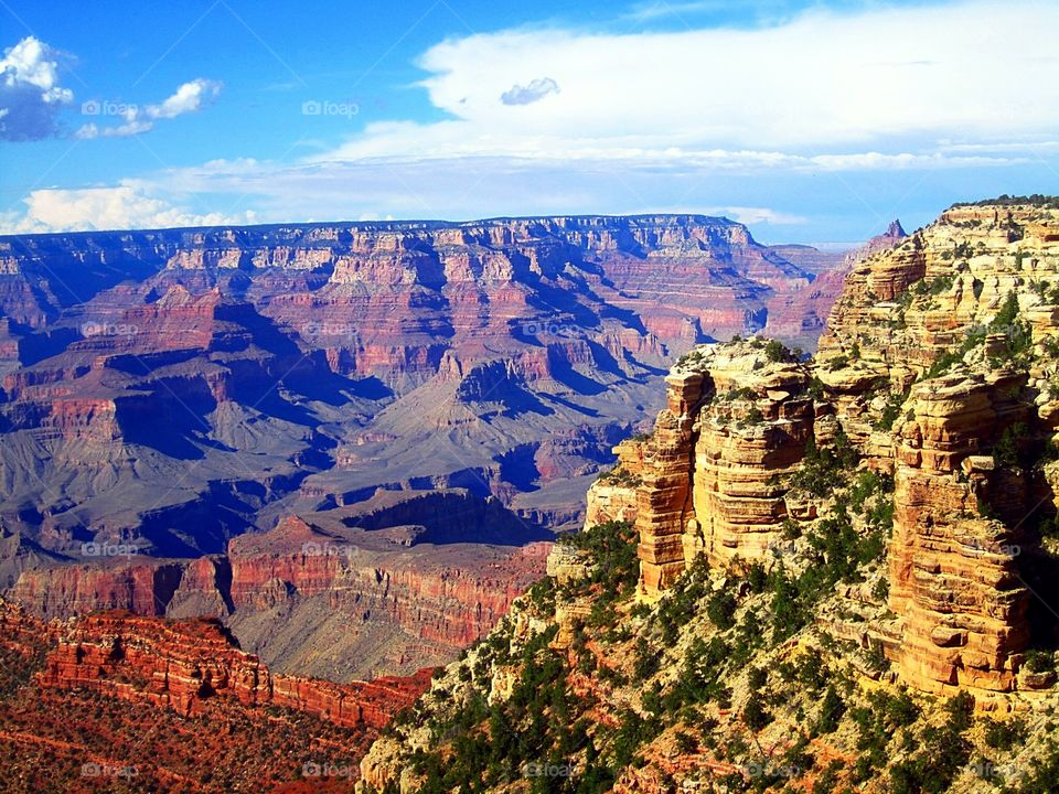 Rocky mountains in grand canyon