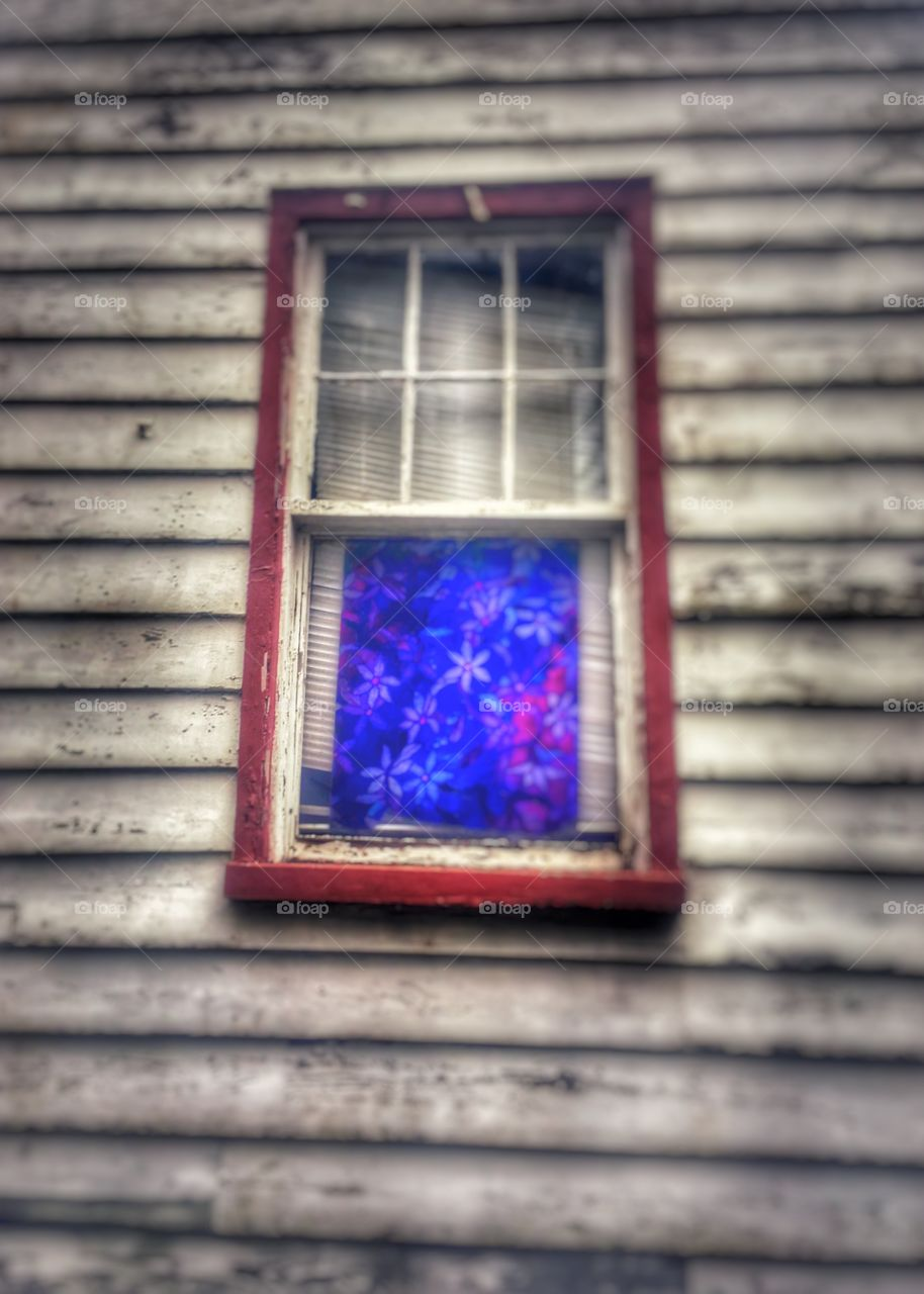 Canvas Art Colorful Distressed Antiquity Window
