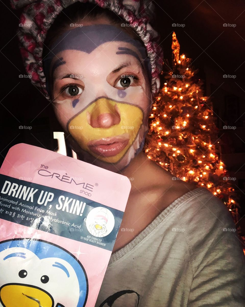 The Creme Shop is one of my favorite skincare lines.  Pic of me trying out their cute penguin hyaluronic hydrating mask during Christmas 2018.  Good Skincare products are essential to great skin.