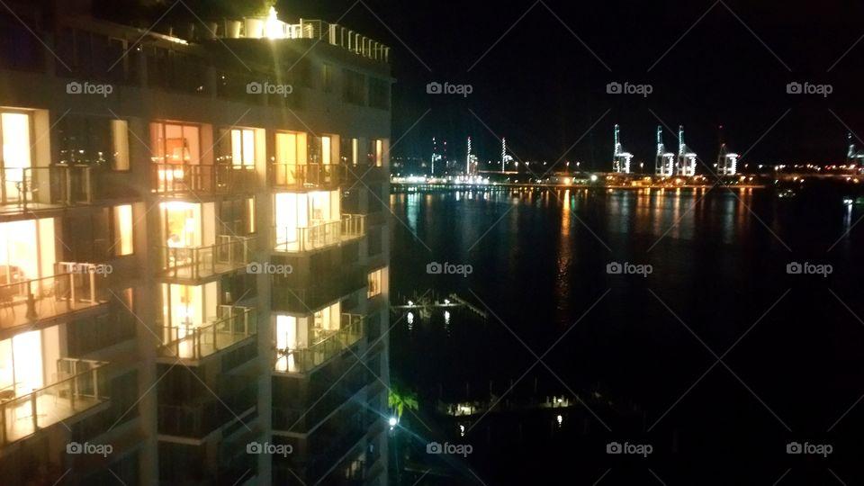 View from 16th floor PH studio Mondrian resort hotel
