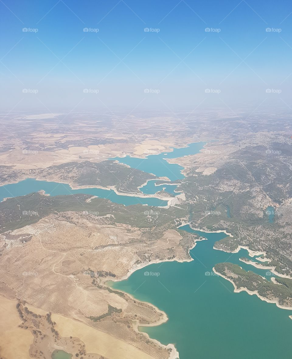 Spanish lakes from the plane