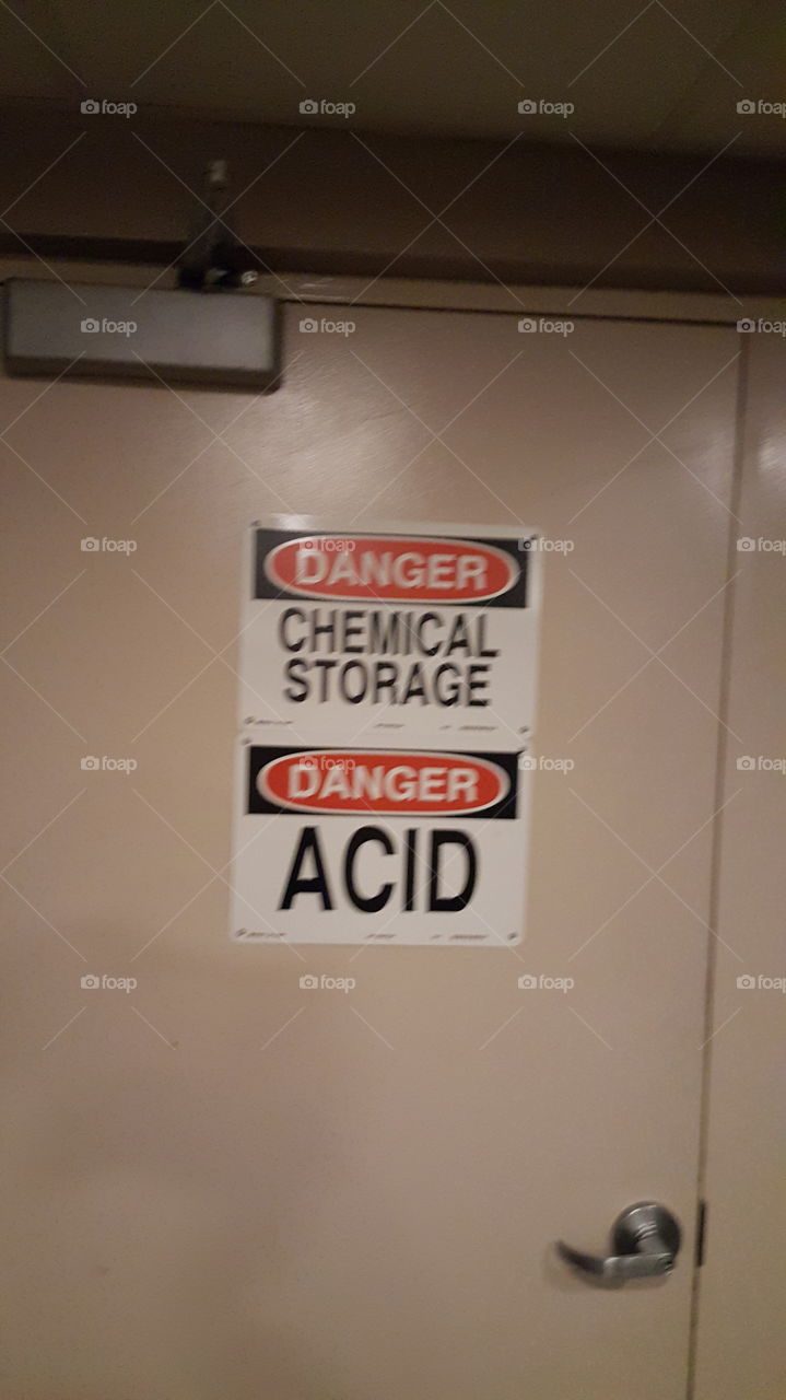 danger chemical storage danger acid!