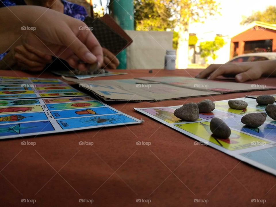 Playing Lotería!