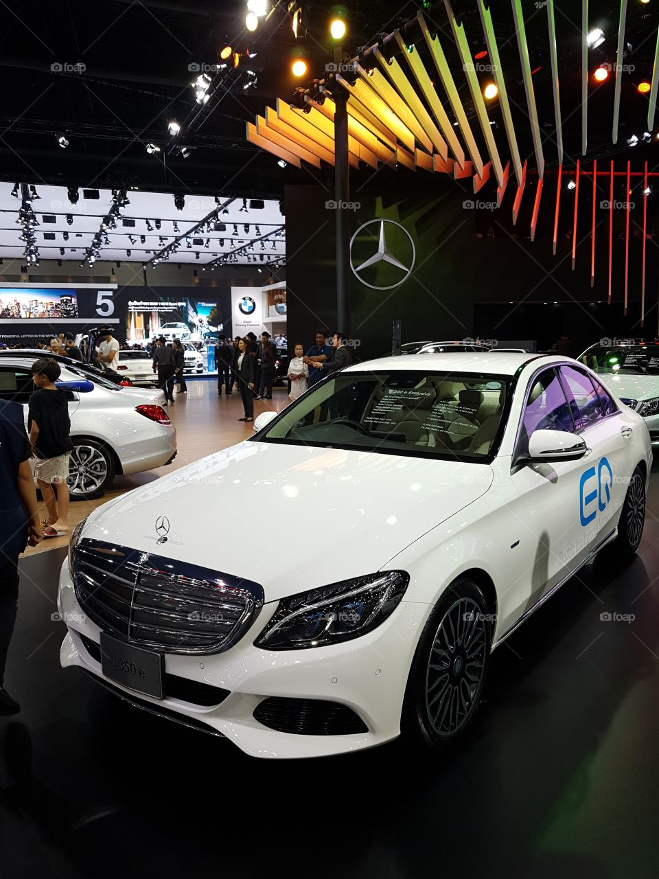 Mercedes C 350 e exclusive benz display at Bangkok international motorshow