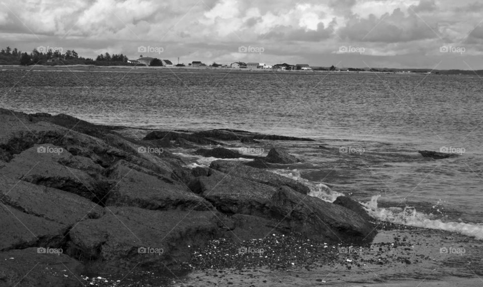 Damon Point as viewed from the North on Damon Point Beach in Ocean Shores.