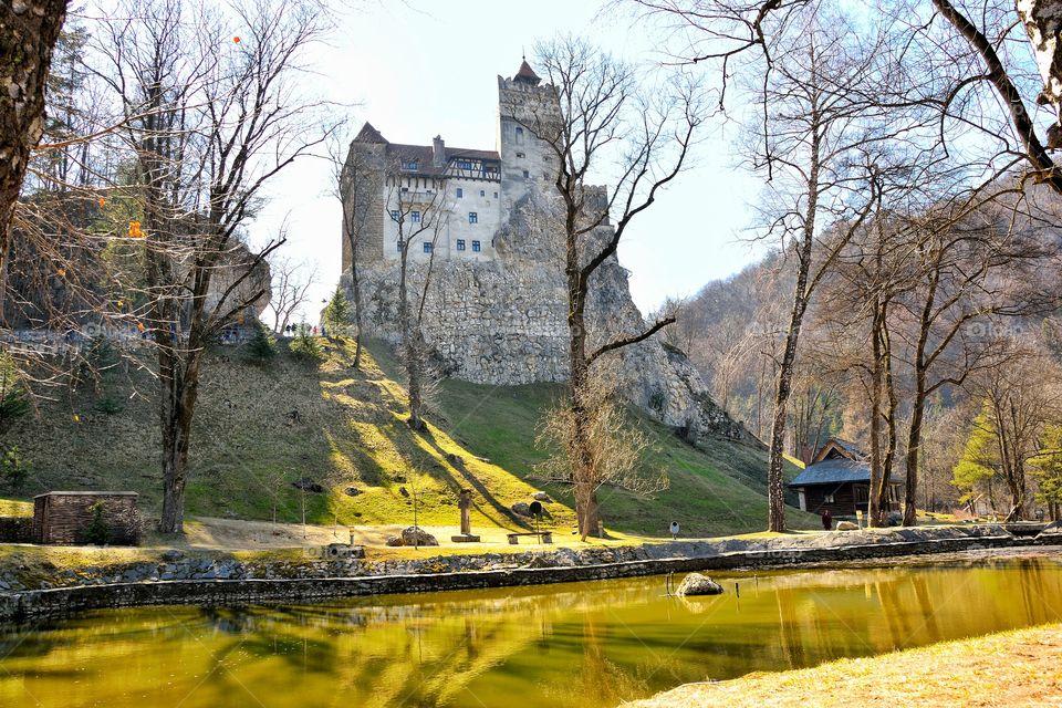 view of Dracula's house ,translavyina Romania