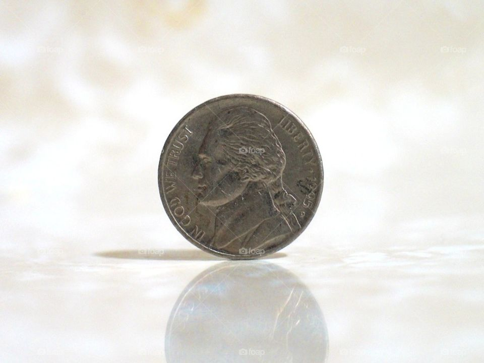Nickel on its edge