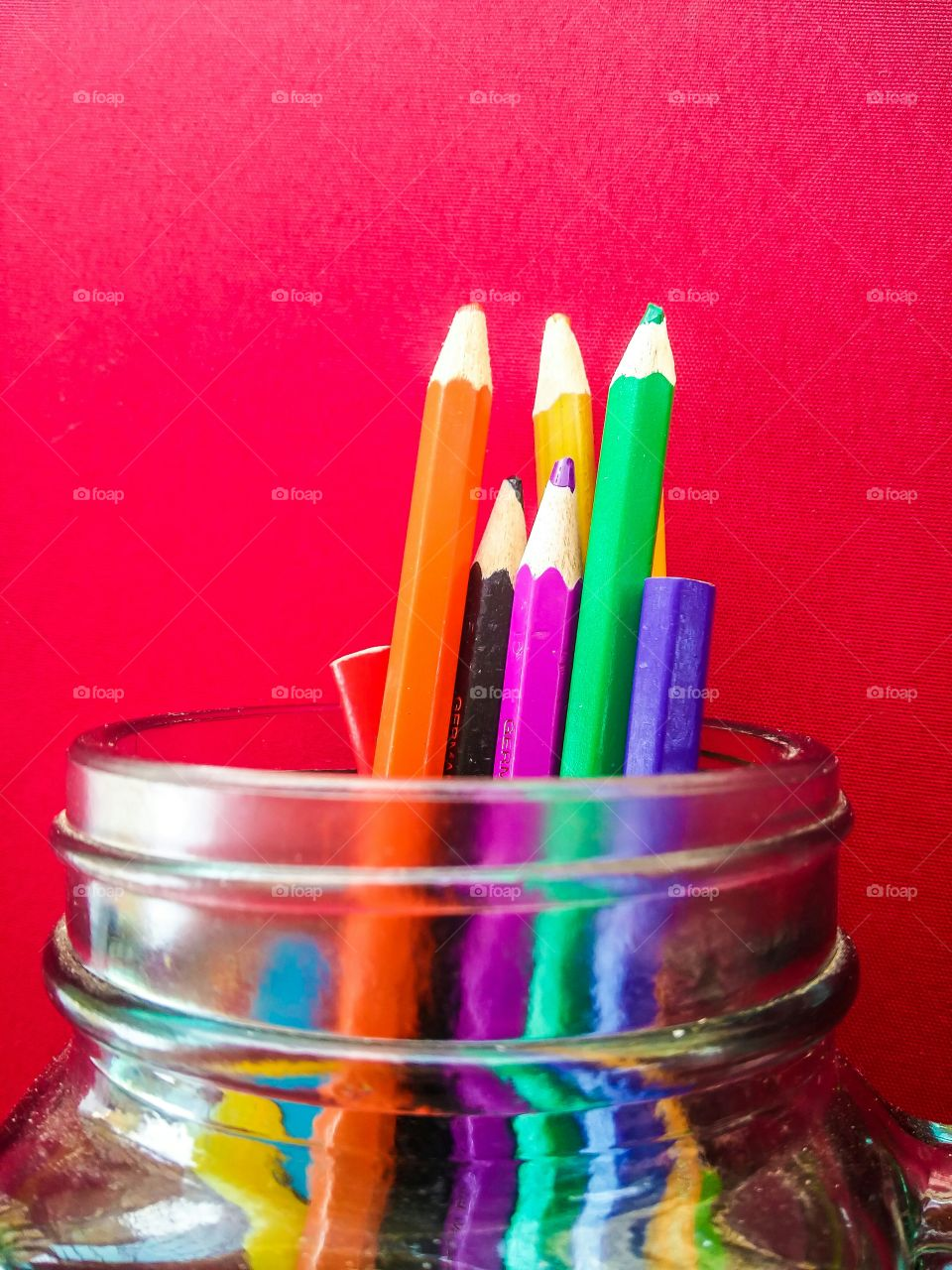 various colorful pencils