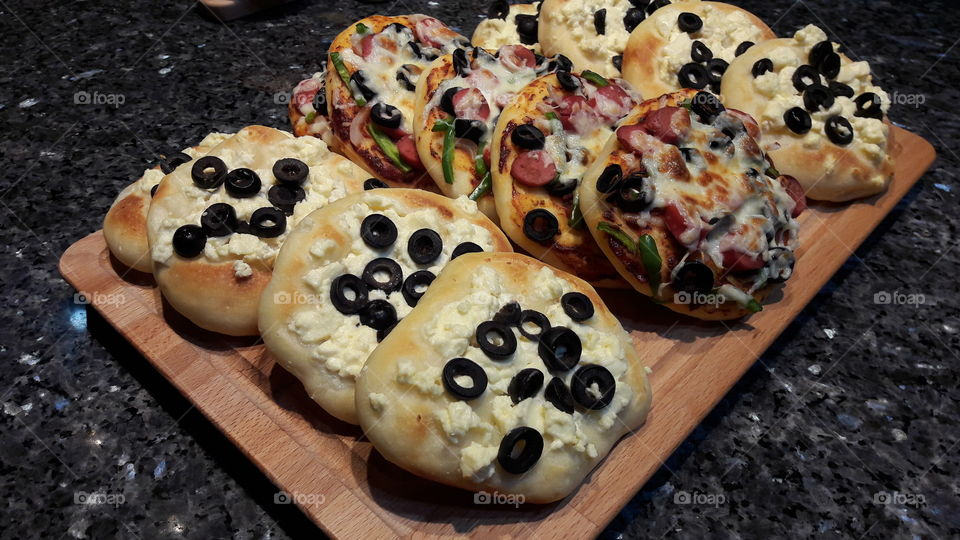 pastiry, cheese & pizza