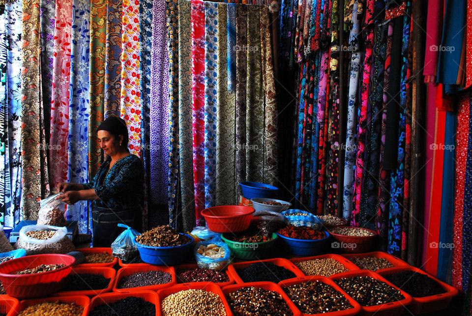Turkmenistan. Marketplace in Turkmenistan.