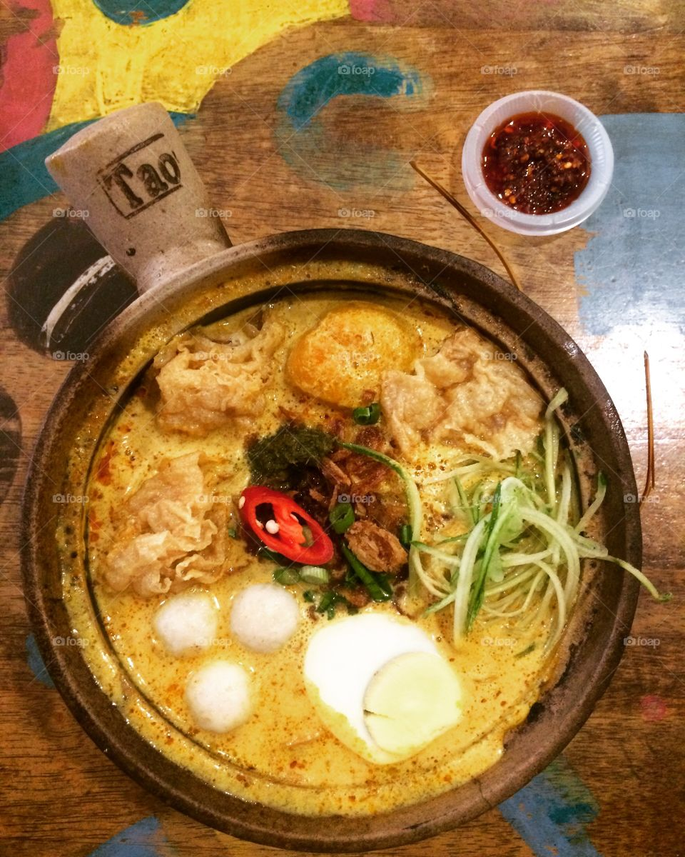 Laksa Malaysia food delicious soup tasty