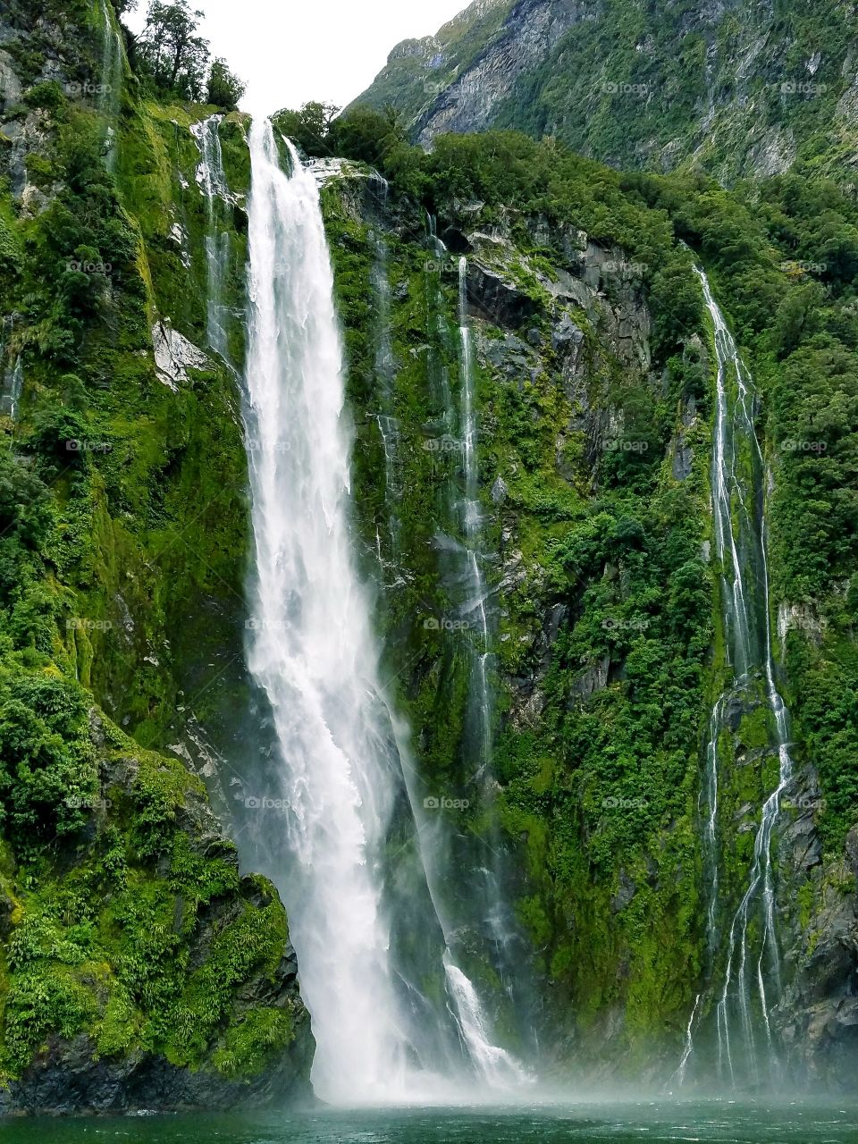 Milford sounds waterfalls