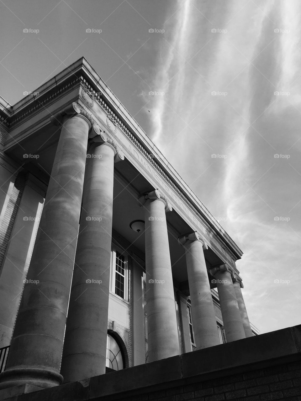 Administration Building . Columns and clear skies frame this 1929 structure on the campus of Abilene Christian University