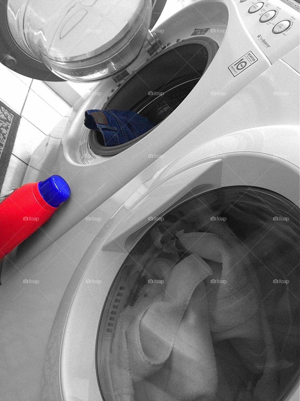 Laundry room. Laundry day