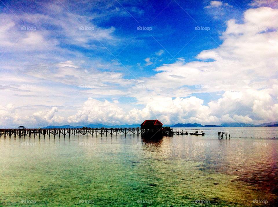 beach ocean sky travel by linderborg