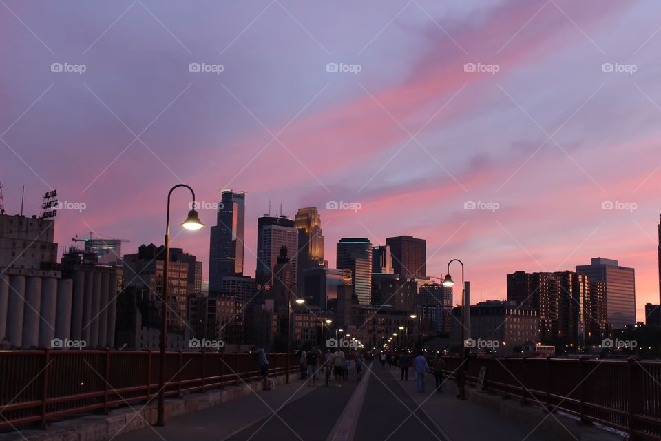 Minneapolis from the Stone Arch Bridge