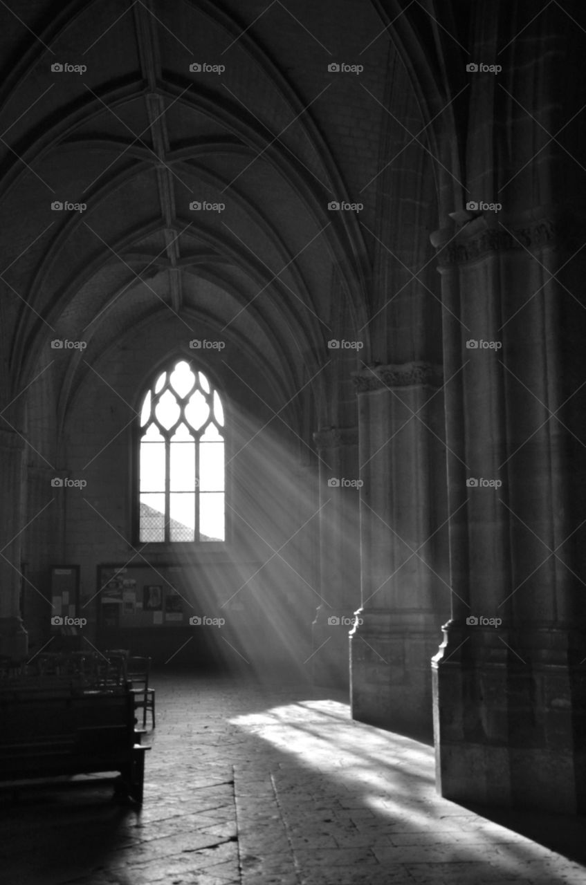 Holy light from window