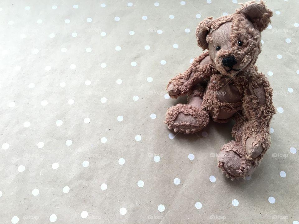 Polka dots and teddy bear
