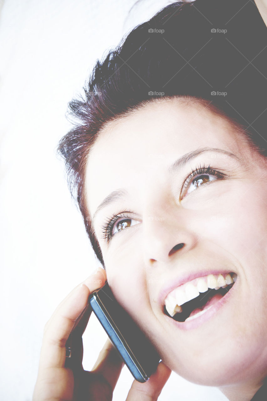 Woman talk on mobile phone