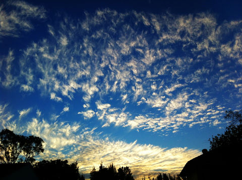 sky nature blue outdoors by king