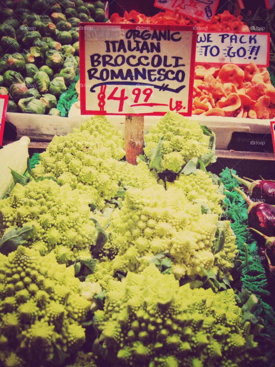 Market day. A crazy vegetable at the market