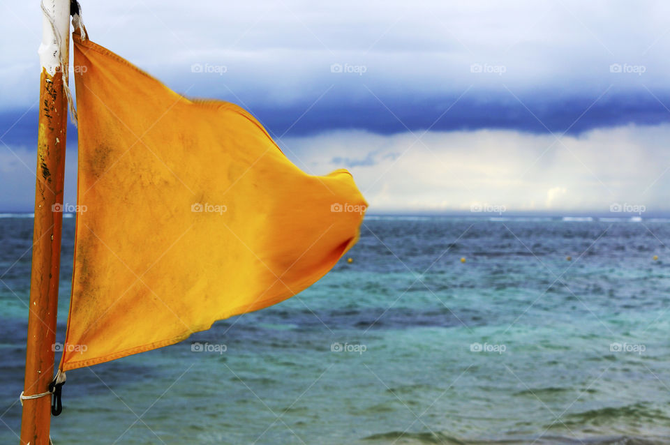 Yellow Flag at the Beach