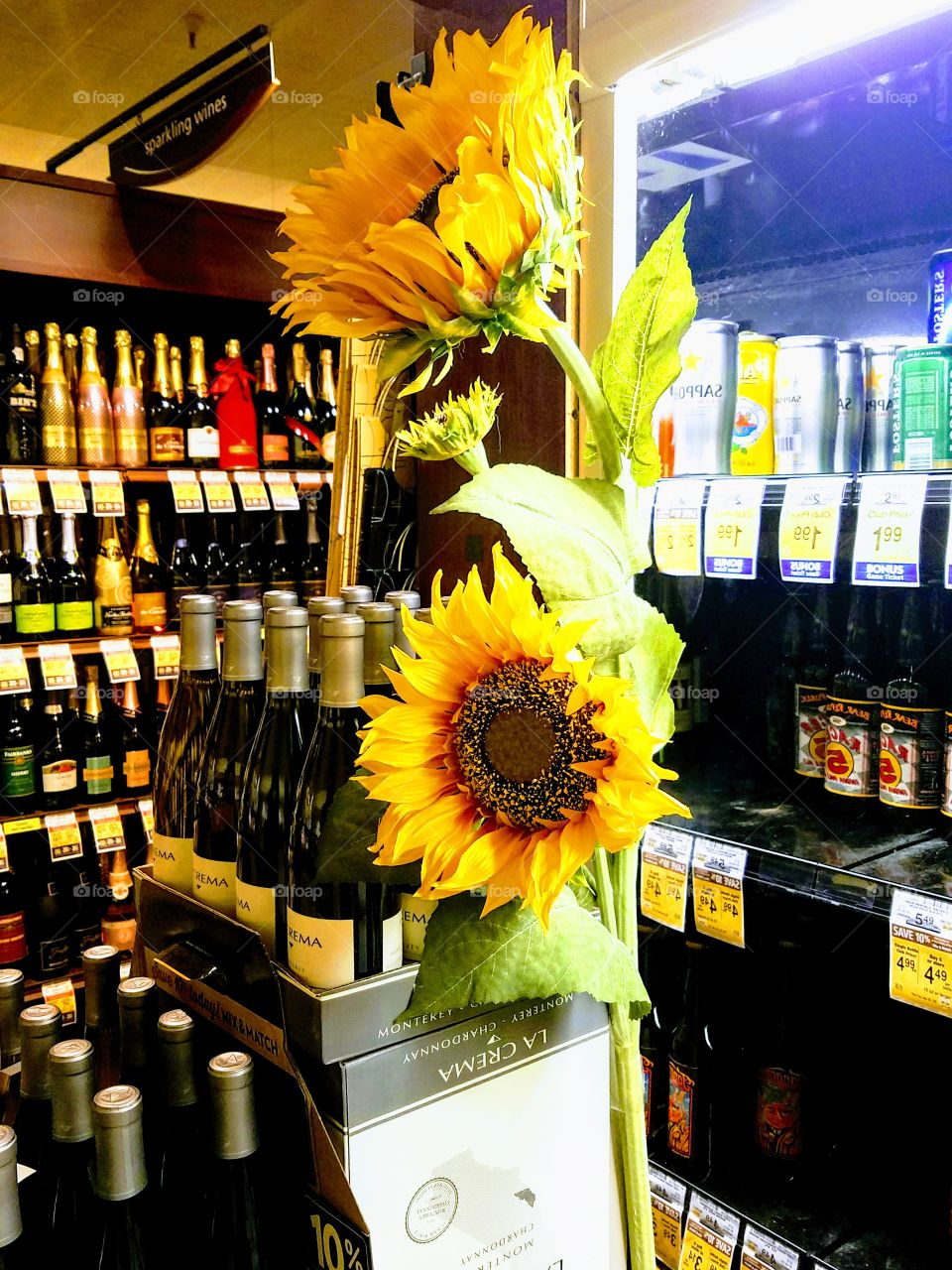 Wine, Champagne and Sunflowers