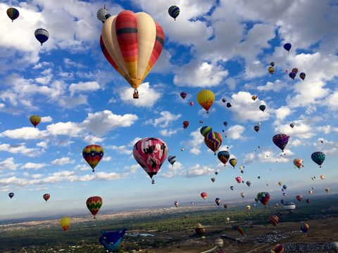 Balloon Fiesta 2015 ABQ. Up in the air, shot of some great colorful balloons!