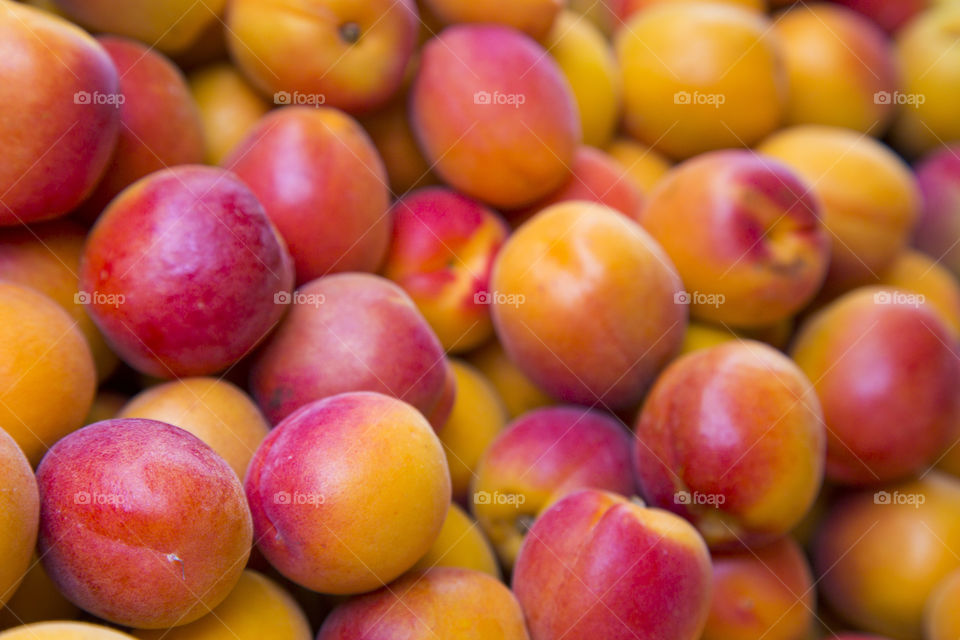 Fresh colorful apricot background
