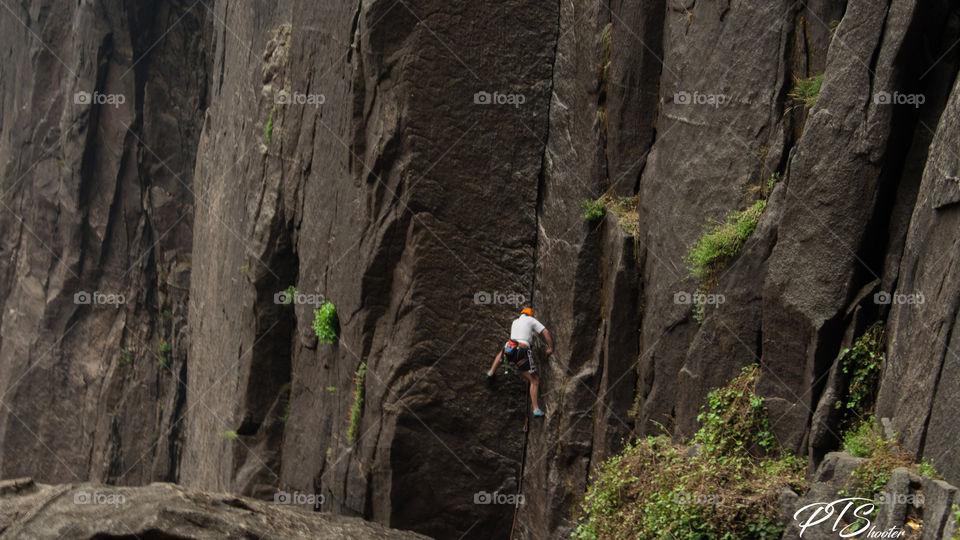 Fall Travel Rock Climber