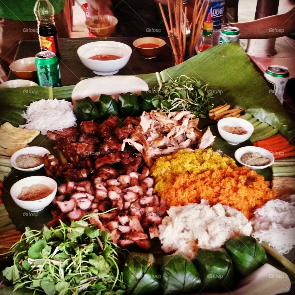 vietnamese food. original vietnamese street food