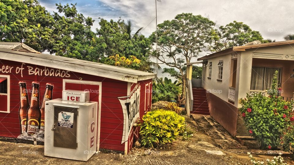 tiny island store and trailer.. Barbados