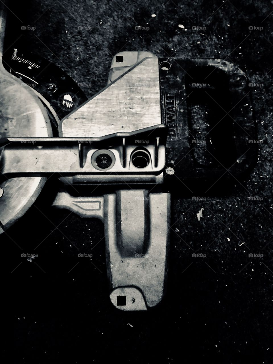 Monochrome shot of a table saw!