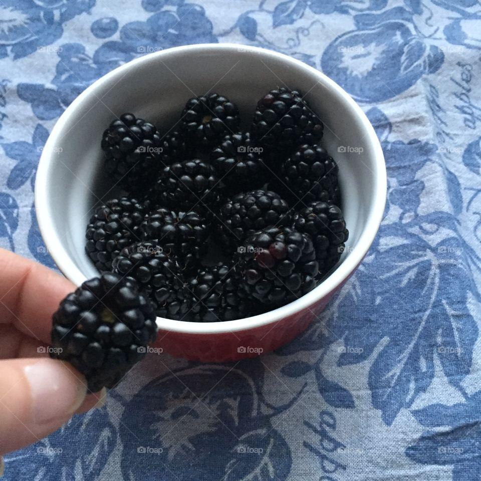 Having BlackBerries for a snack
