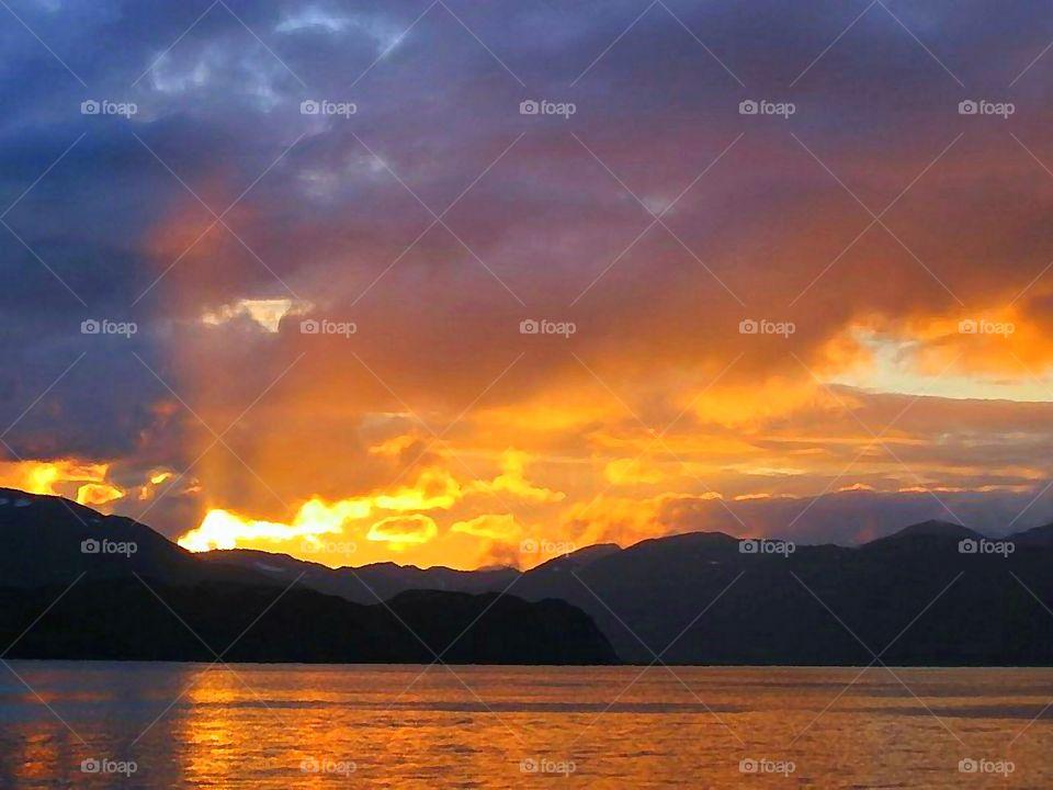 Sunset Over Bering Sea