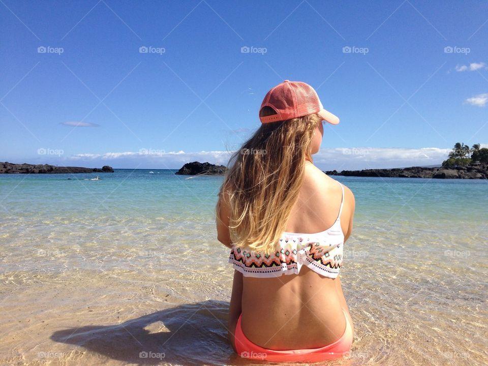 beach ocean girl summer by xocassiejane