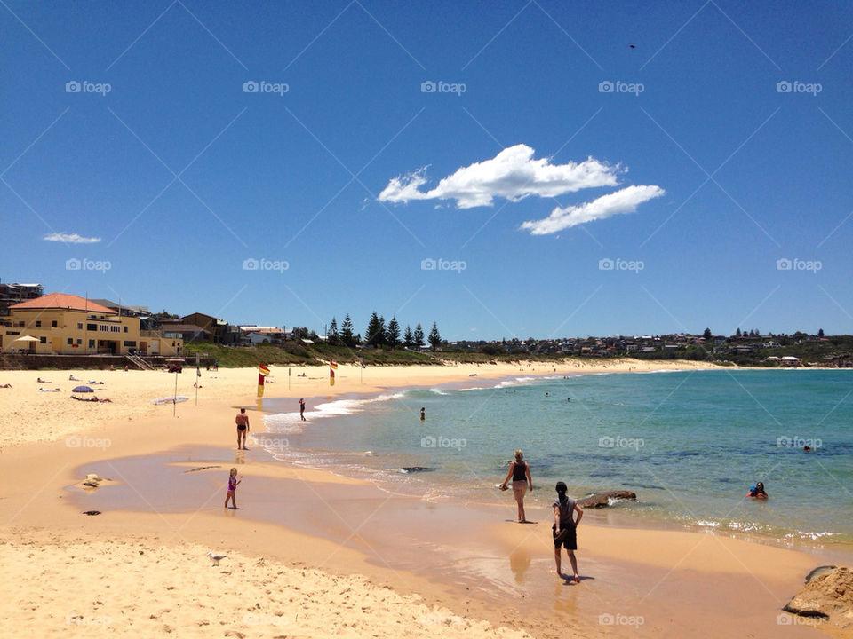 beach ocean people sunny by carrieduay