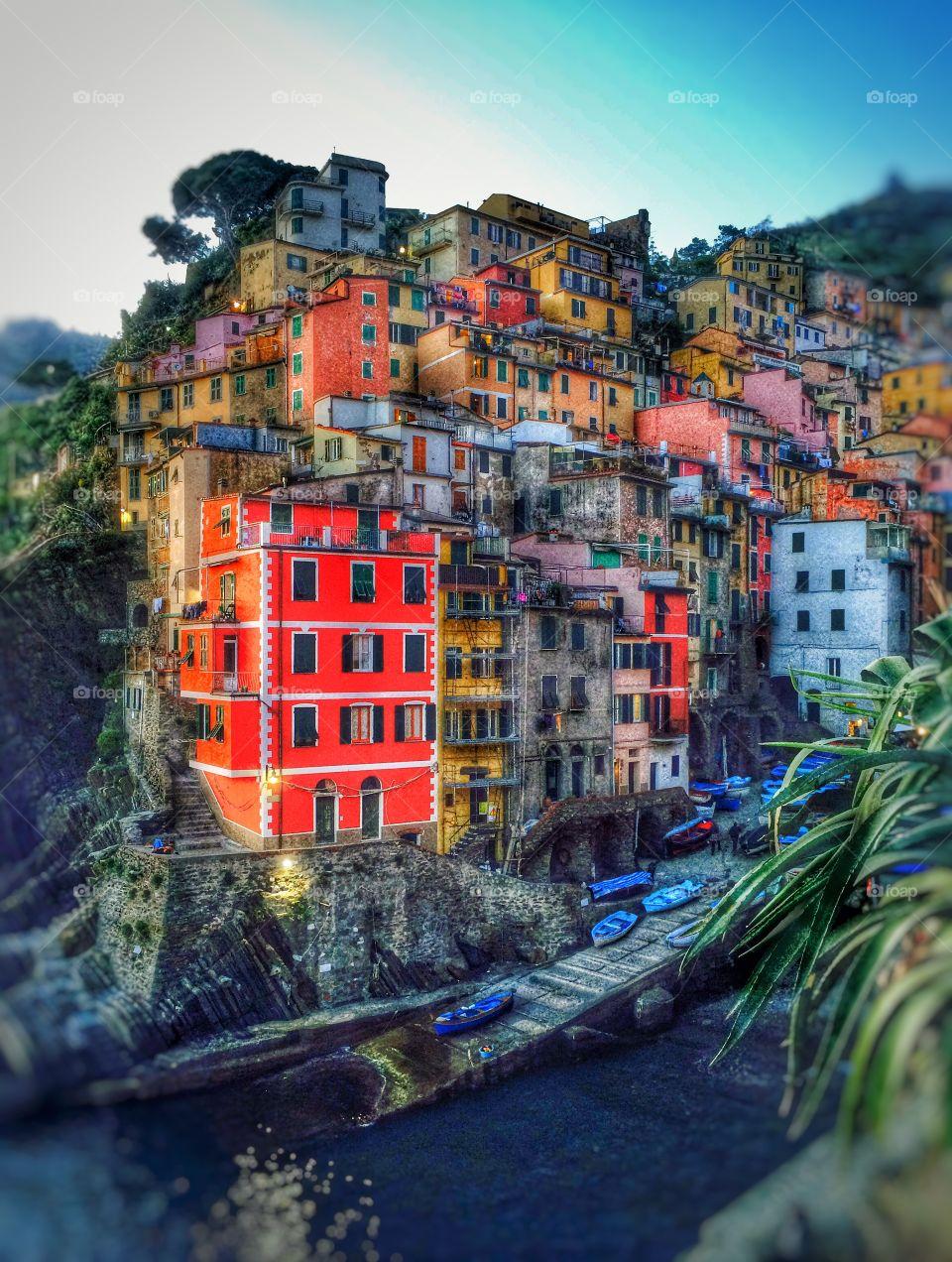 Riomaggiore, Cinque Terre of Italy. Riomaggiore, beautiful and colourful village of Cinque Terre, Italy.