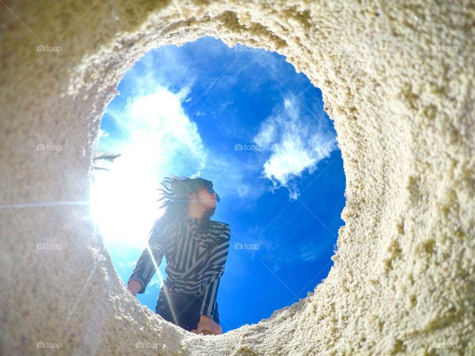 Man made window I guess! Here's when I went to Boracay with my gopro to take memories! I miss Philippine Islands and beaches! Can't wait to go back!