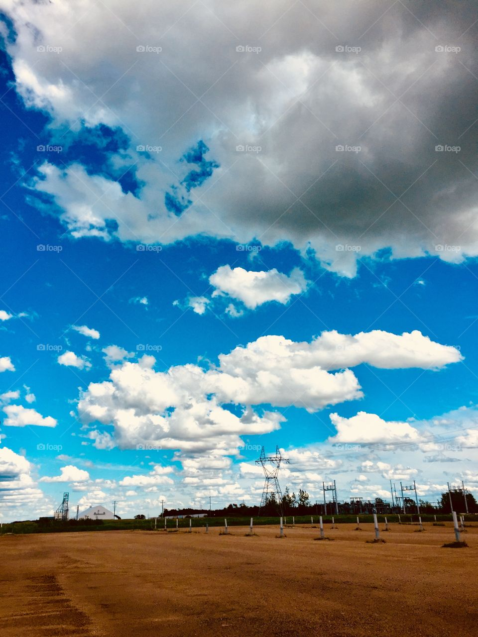 Endless prairie sky
