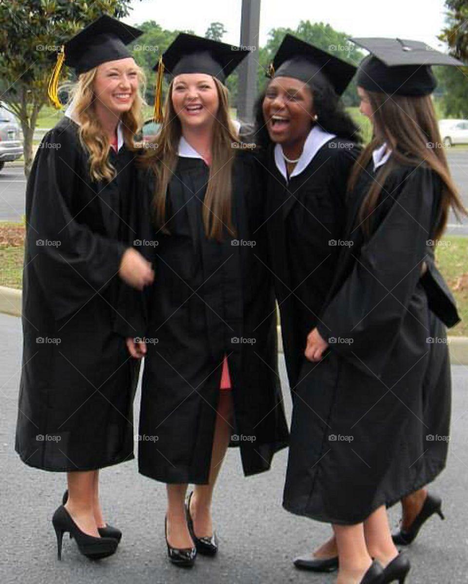 Graduation posing