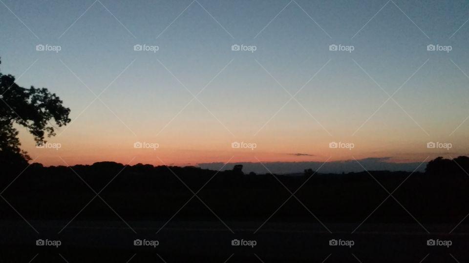 Sunset, Dawn, Fog, Landscape, Sky
