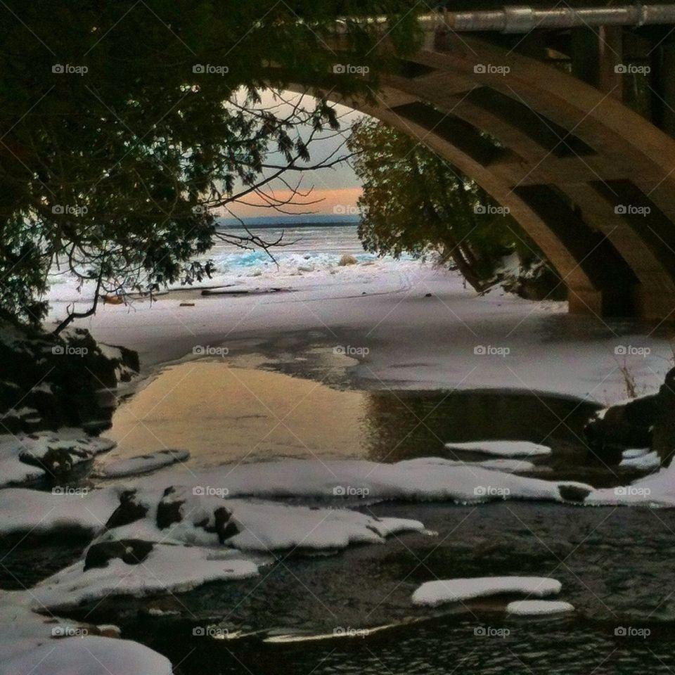 Bridge over troubled ice