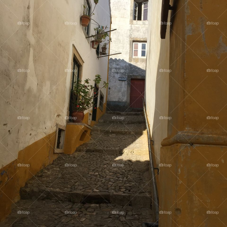 Typical street at Obidos